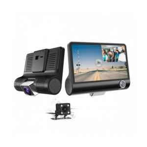 Видеорегистратор Smart Technology 3 Cam, 3 Камери - Отпред, Отзад И Интериор