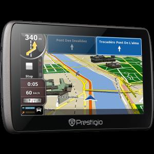 GPS НАВИГАЦИЯ PRESTIGIO GEOVISION 5000 800 MHZ EU ЗА КАМИОН