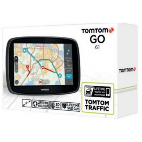 gps tomtom go 61 world lifetime update. Black Bedroom Furniture Sets. Home Design Ideas