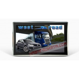 GPS НАВИГАЦИЯ WEST ROAD WR-S5256 HD EU 800 MHZ 256 RAM 8GB ЗА КАМИОН