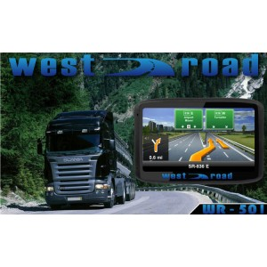 GPS НАВИГАЦИЯ WEST ROAD WR-501 FM BT ЗА КАМИОН