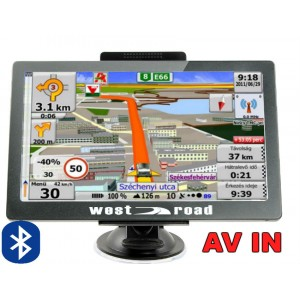 GPS НАВИГАЦИЯ WEST ROAD WR-X256S BT AV IN FM EU 800MHZ 256MB RAM