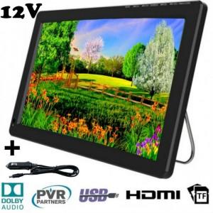 """12"""" портативен телевизор с цифров тунер DVB-T2 Smart Technology TV12, 12 инча, Мултимедия"""